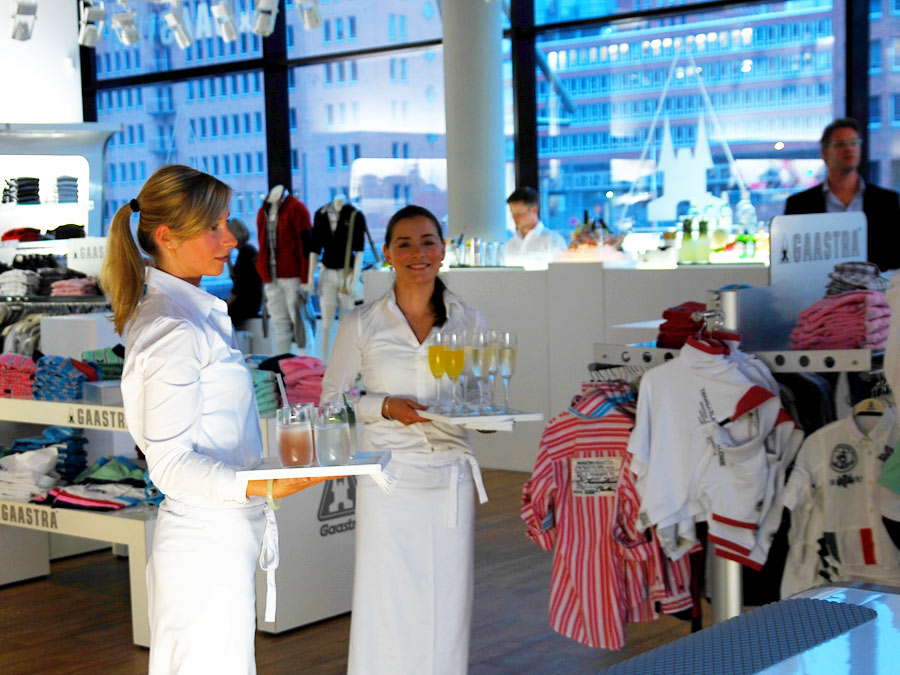 Catering in der HafenCity zum Flagship Store Opening in Hamburg