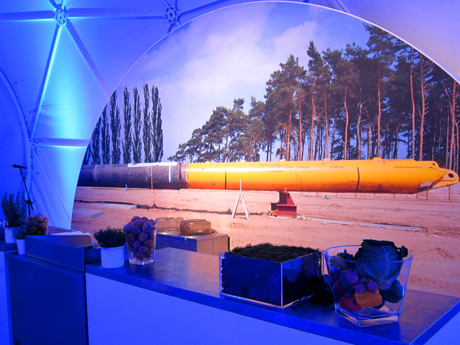 Live cooking station bei Nordstream zum Event Catering in Lubmin