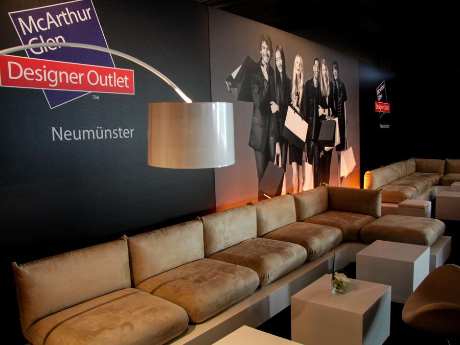 Lounge im VIP Bereich zur Eröffnung des Outlet Centers Neumünster
