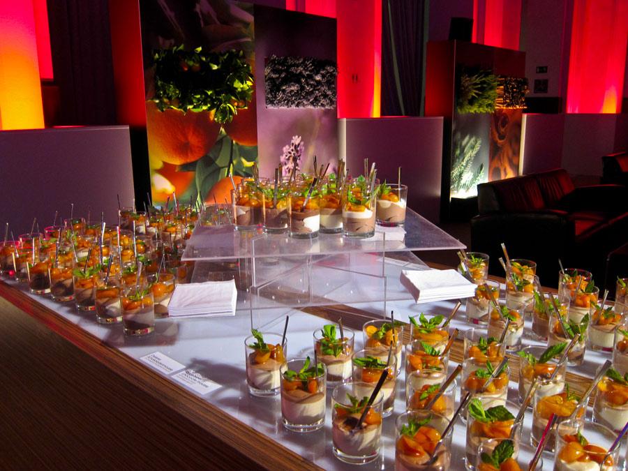 Dessert Station zum Get together nach dem Gala-Dinner