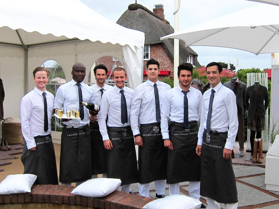 Catering Team zum Brunello Cucinelli Event auf Sylt.