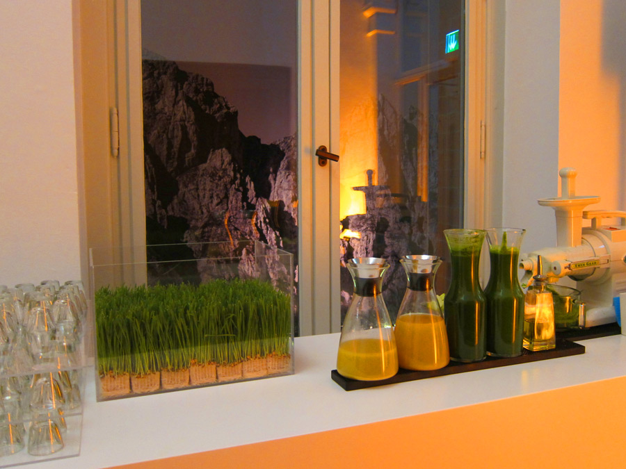Wheatgras self-service Juice Bar zum Barcatering im Lanserhof
