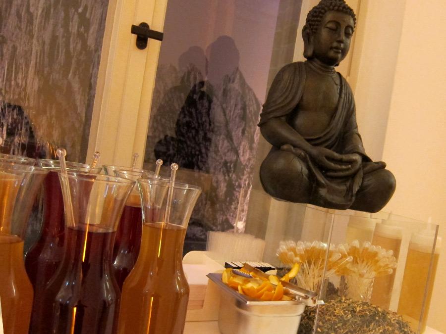 Tee-Installation beim Barcatering zur Eröffnung des Lanserhof