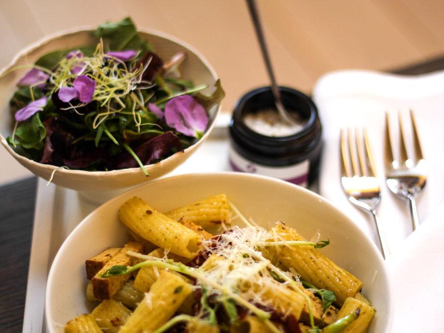 Vegan Catering zum Lunch während der Paris Fashion Week