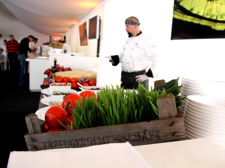 Regionales Catering zur VIP Hospitality am Hamburger Rothenbaum.