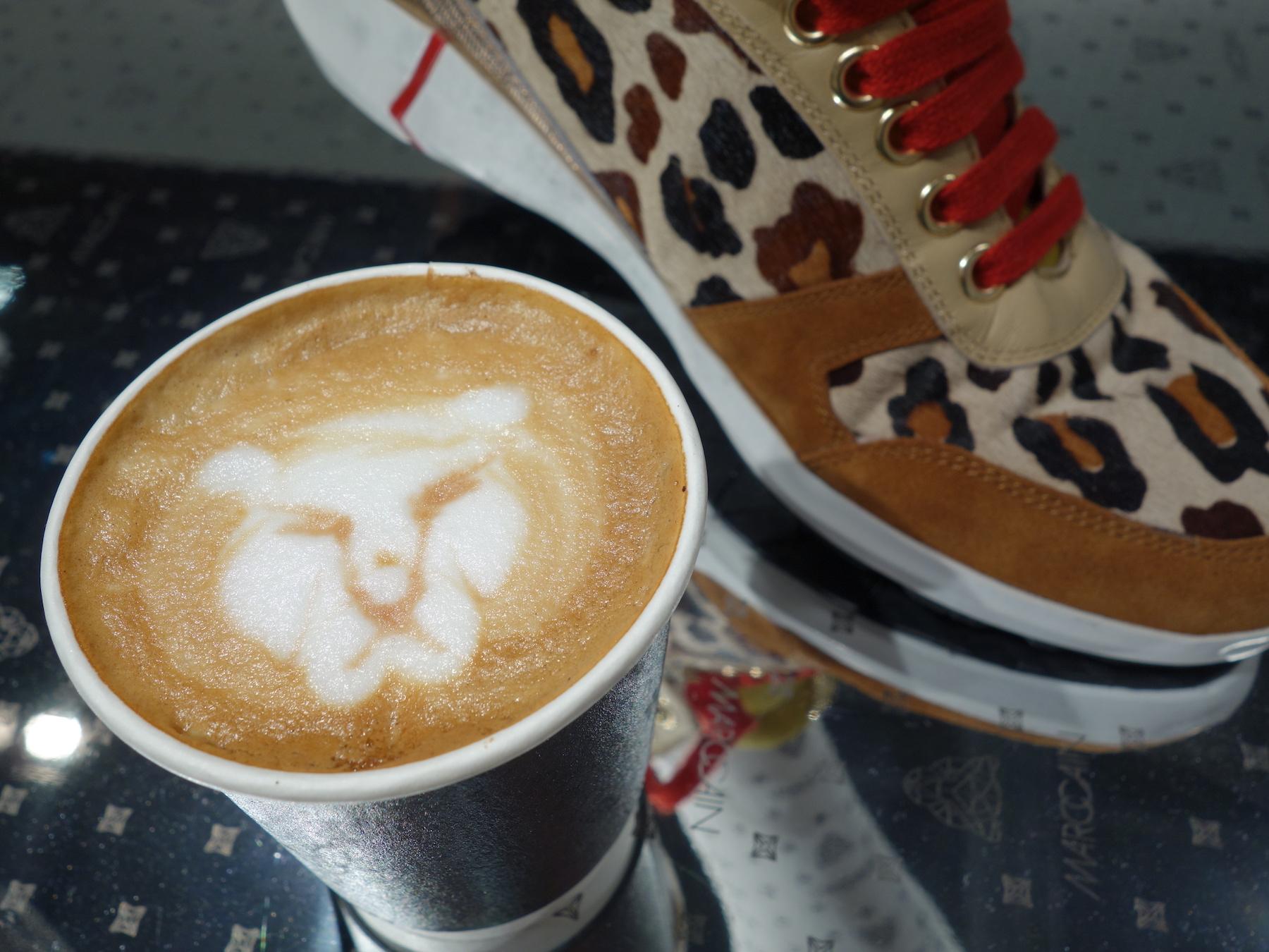 Leoparden Cappuccino passend zur Kollektion