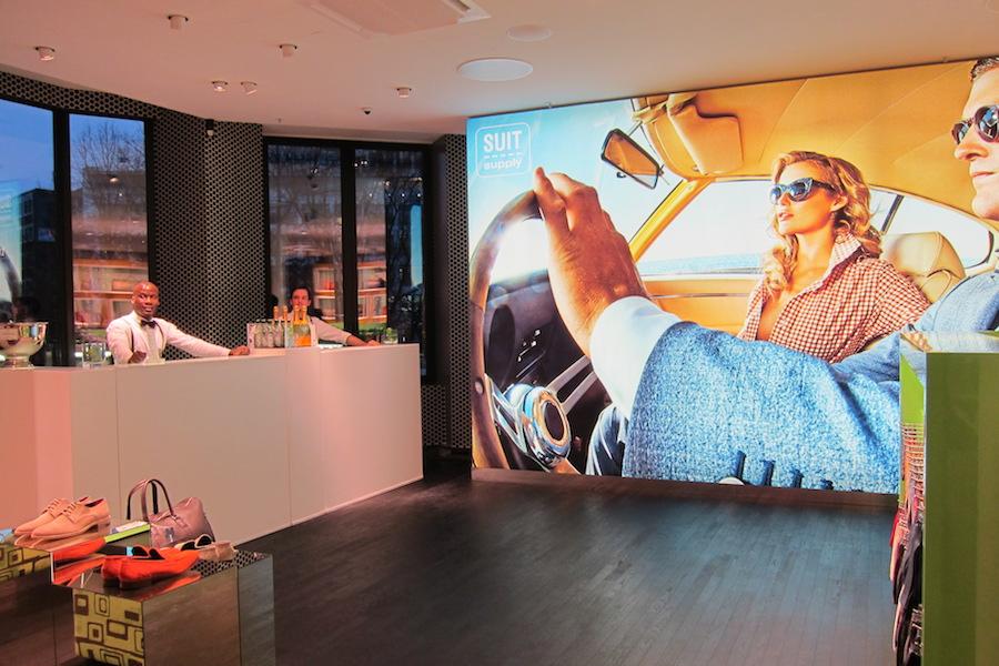 Die LUNABar beim Store Event in Hamburg.