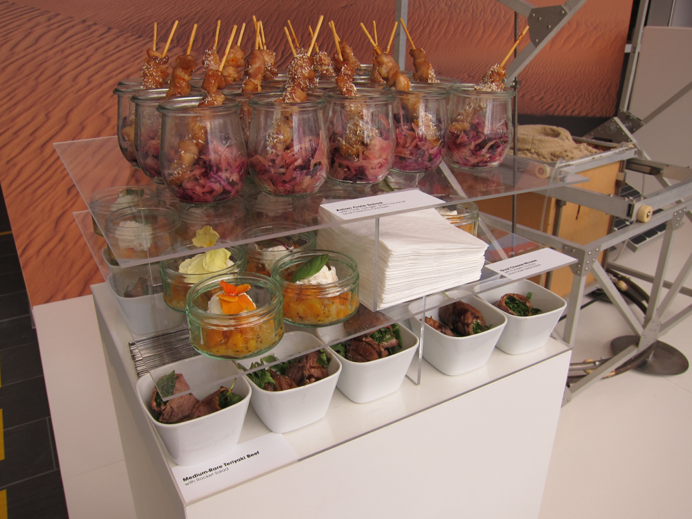 Stacked Buffet beim DHL Innovation Day in Köln.