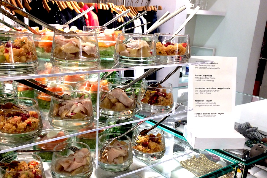 Stacked Buffet beim Fashion Store Event in Saarbrücken.